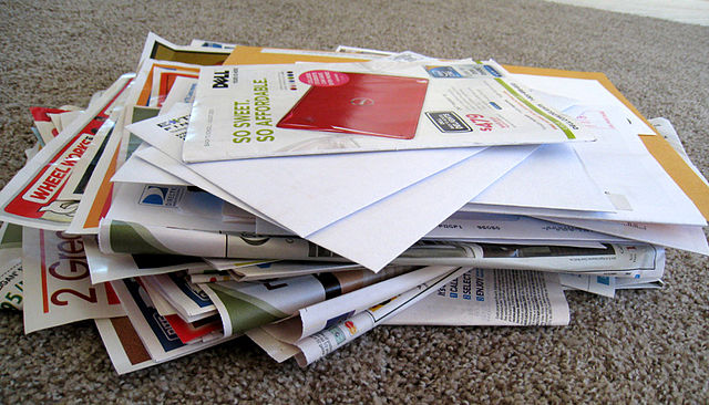 A pile of junkmail