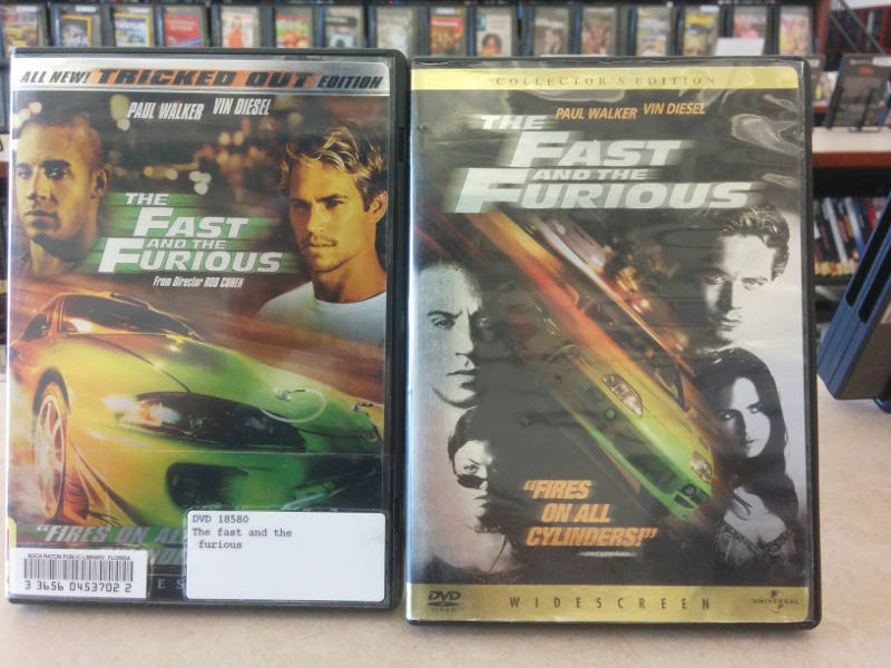 Pricing tiers for the movie The Fast and the Furious